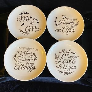 Wedding Dessert Plates Set of Four